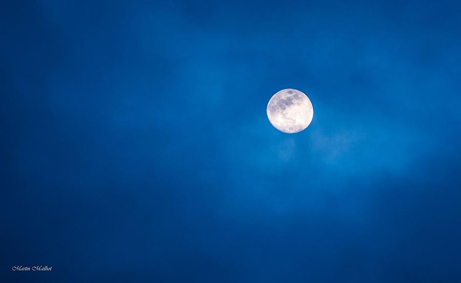 Même la lune nous a gâté de sa présence!