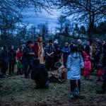 P_2018_per_LR, Luc Pelletier, sculpture sur bois et poésie, verger, crédits photo Martin Mailhot_RURART