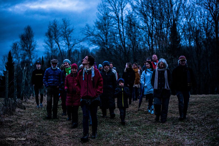 Les invités en marche guidé par Marie-Noëlle Doucet-Paquin