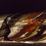 RURART Hiver 2018, Amélie Lemay-Choquette, projection peinture sur verre et danse, photo Maryline BlaisLR