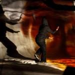 RURART Hiver 2018, Amélie Lemay-Choquette, projection peinture sur verre et danse, photo Stuart EdwardsLR