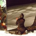 Amélie Lemay-Choquette - projection peinture sur la neige et danse