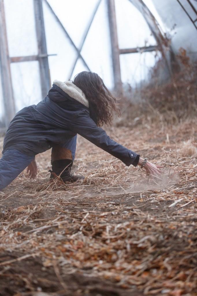 RURART Hiver 2018, Claude-Andrée Rocheleau, danse, terre, photo Maryline Blais