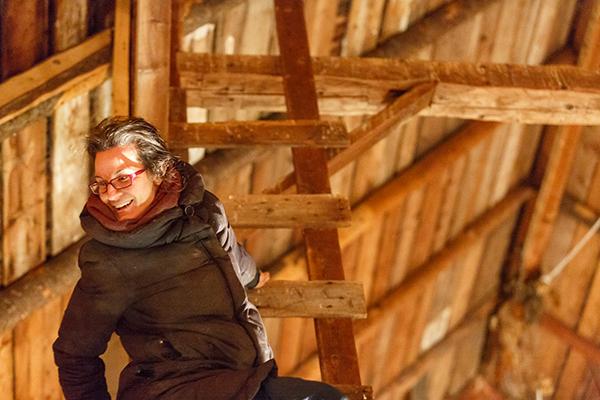 RURART Hiver 2018, Marie-Noëlle Doucet Paquin, performance, grange, photo Stuart EdwardsLR