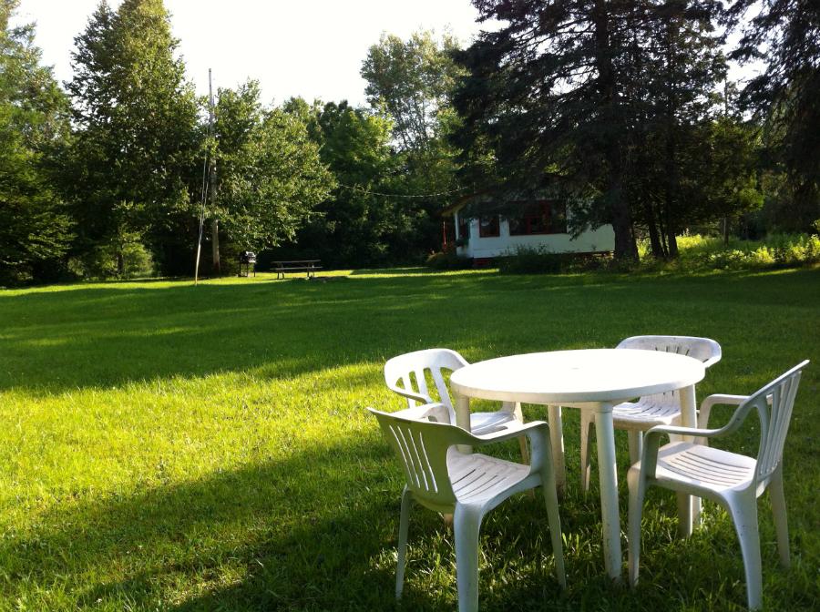 Hébergement en chalet - site privée sur la ferme
