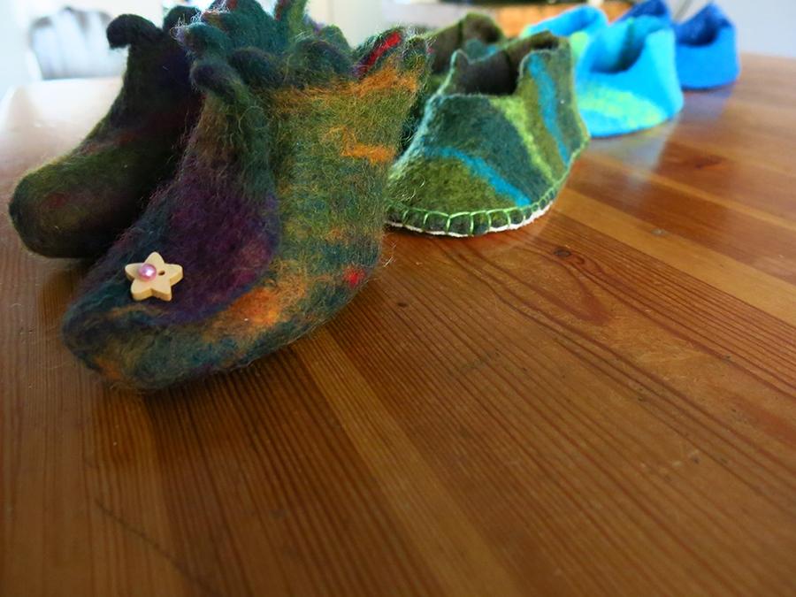 Annie Levesque - chaussons pour enfants