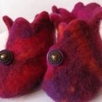 Annie Levesque - pantoufles en laine feutrée