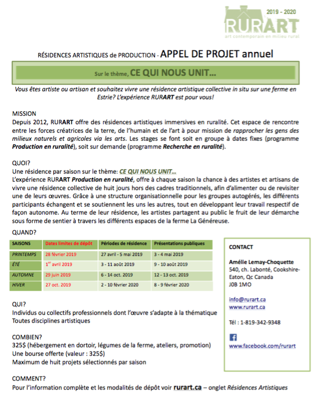 Appel de projets RURART2019_FR_modif